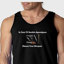 In Case of Zombie Apocalypse Choose Your Weapon Funny Men's Tank Top