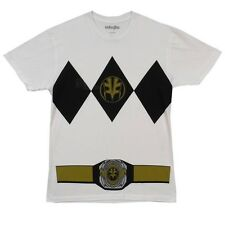 AUTHENTIC MIGHTY MORPHIN I AM WHITE POWER RANGER MENS COSTUME SHIRT T S-2XL