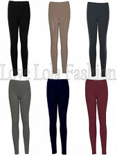Womens Leggings Ladies Thermal Thick Leggins Winter Warm Fleece Lined One Size