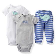 New Carter's 3 Piece Happy Whale Bodysuits Pant Set NWT 3m 6m 9m 12m 18m 24m