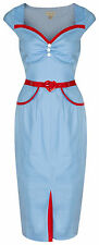 NEW LINDY BOP CHIC VINTAGE 1950's ROCKABILLY PINUP PENCIL WIGGLE PARTY DRESS