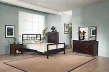 Nevis Mondoco Simple Platform Bedroom Set in Espresso Finish [ID 2056398]