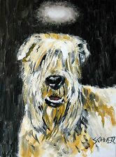 soft coated wheaten terrier angel dog art PRINT pop poster gift 8x10 11x14 13x19