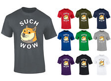 Mens Doge Such Wow Shibe Dog Funny Top T-shirt NEW S-XXL