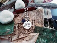 NEVER NEVER GIVE UP~Purple Awareness & Support Jewelry- Necklace