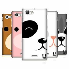 HEAD CASE DESIGNS FACE ANIMAL PORTRAITS CASE COVER FOR SONY XPERIA J ST26i