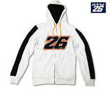 Official Dani Pedrosa Zip Up Hoodie White No.26 New