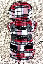 new arrival small dog pet clothes apparel plaids hoodie outcoat for winter XS-XL