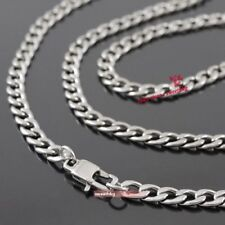 Mens Boys 316L Stainless Steel Solid Miami Cuban Curb Link Chain Necklace