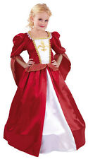 GIRLS MEDIEVAL TUDOR PRINCESS LADY QUEEN FANCY DRESS COSTUME OUTFIT 4-6-9-12 NEW