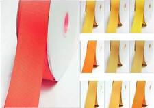 """Grosgrain Ribbon 9mm 3/8"""" width by 5 meters Yellow-Orange for bow"""