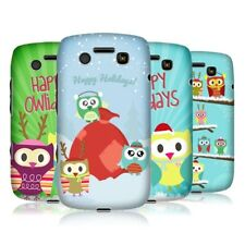HEAD CASE DESIGNS OWL XMAS HARD BACK CASE COVER FOR BLACKBERRY BOLD 9790