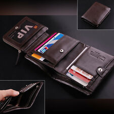 New $100 Men's Top England Genuine Leather Trifold Wallet Purse Luxury 2 Colors