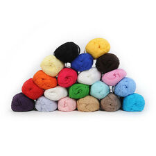 Wholesale! Soft Smooth Natural Bamboo Cotton Knitting Yarn Fingering 20 Colors