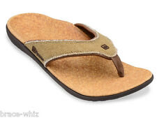 Spenco Total Support Orthotic Mens Yumi Flip Flop Sandals Straw/Java/Cork