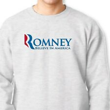 ROMNEY Believe In America 2012 Election Tee Republican Vote Crew Neck Sweatshirt