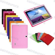 "Colorful Silicone TPU Case Cover for 7"" Q88 Google Android A13 Tablet PC MID"