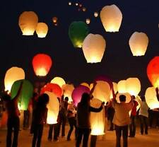 80 Paper Chinese Lanterns Sky Fly Candle Lamp for Wish Party Wedding US seller