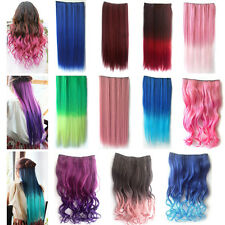 1pcs Lady Cosplay Colorful Long Straight Curly Synthetic Hair Extension