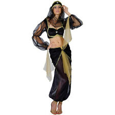Ladies Arabian Princess Belly Dancer Fancy Dress Costume Outfit UK XS-XL