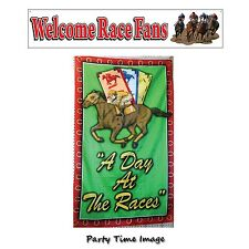 Day at the Races Flag or Welcome Race Fans Banner U PICK KY Derby Party Kentucky