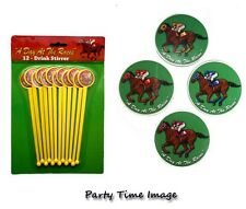 Day at the Races Coasters(8) or Stirrers(12) U PICK KY Derby Party Horse Racing