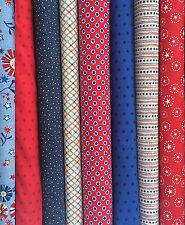 Bundle of Patriotic Fabrics - Quilts of Valor - Choose your size: FQ HY Yard