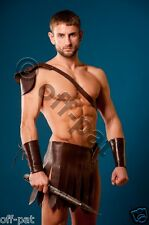 Leather  Roman Gladiator Kilt Set  with Gauntlets LARP  MOST SIZES