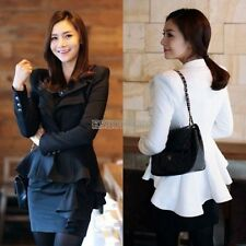 Vintage Peak Power Shoulder swallow tail Elegant Women Suits Blazer Coat Jacket