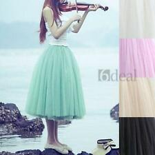 Lady Girl Fashion Princess Fairy Style 5 layers Tulle Dress Bouffant Skirt