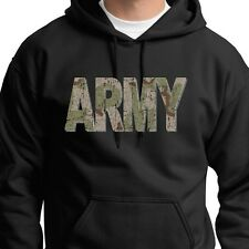 ARMY Camo Letters Combat Tactical T-shirt Military Training Hoodie Sweatshirt