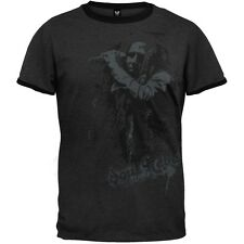 Bob Marley - Mens Rebel Mic Ringer T-Shirt - Black