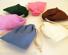 Drawstring Cotton Bags 10 x 13cm Blank Plain Small Party Jewellery Gift Bag C#17
