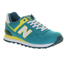 New Balance Wl574 TURQUOISE YELLOW ST Trainers Shoes