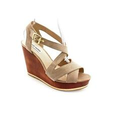 Steve Madden Showntel Womens Suede Wedge Sandals Shoes