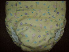 Dependeco All In One flannel adult baby diaper S/M/L/XL  (baby items on yellow)