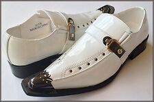 NICE ITALIAN STYLE MENS DRESS/CASUAL SHOES COLOR WHITE EXCELLENT QUALITY