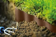 BROWN PLASTIC GARDEN GRASS LAWN EDGE EDGING BORDER FENCE WALL DRIVEWAY ROLL PATH