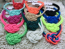 beautiful handmade cotton rope woven Chinese knot Fluorescent color necklace