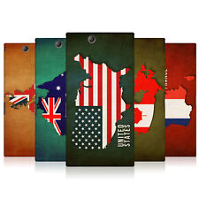 HEAD CASE DESIGNS FLAG MAPS HARD BACK CASE COVER FOR SONY XPERIA Z ULTRA C6802