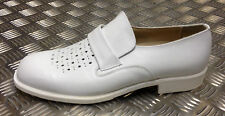 German Military White Leather Ceremonial Officers Sailors Shoes. All Sizes - NEW