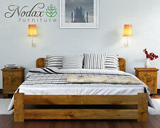 New Solid Wooden 100% Pine 6ft Super King Size Bed Frame Lidia various colours