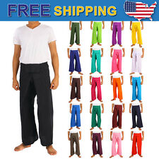 Men's Thai Fisherman Pants Toray Rayon cotton Yoga Trousers Free Size Boho Long