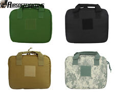 """4Color 12"""" Airsoft Tactical Military Square Padded Pistol Carry Bag Case Black"""