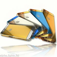 Compatible iPhone 5 and 5S Gold Silver Edition Full Body Wrap Decal Sticker 