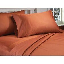 Bed Skirt 1-Piece Tailored Brick Red Solid 1000Thread Count Choose Desired Size