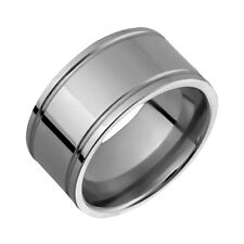 New Mens Titanium Ring 10mm Wide Engagement Band Comfort Fit Custom Made