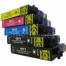 5 Generic Replacements for Epson 18XL Printer Ink Cartridges. UK VAT Invoice.