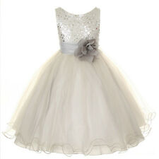 Champagne Flower Girl Dress Bridesmaid Prom Communion Birthday Graduation Dress