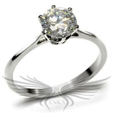 1.3ct Brilliant Round Cut Russian Lab Created Sim Diamond Engagement Ring TK025